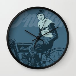 Motorcycle Board Track Racer 4 Wall Clock