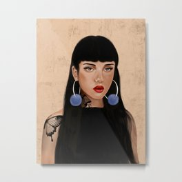 Rebel Girl IV Metal Print