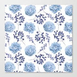 Sky Blue Roses Canvas Print