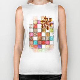 Lady Patchwork (Bulgarian Love) Biker Tank