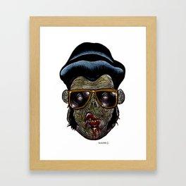 Heads of the Living Dead Zombies: Hunka Hunka Zombie Framed Art Print