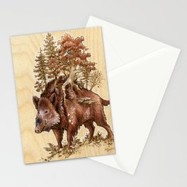 Boar of the Woods Stationery Cards