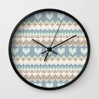 knitting Wall Clocks featuring knitting by alisblack