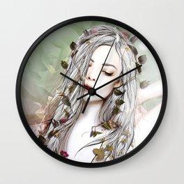 Sun and Roses Wall Clock