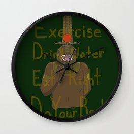 Motivational Sobek-Ra Wall Clock
