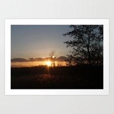 At Sunset Art Print