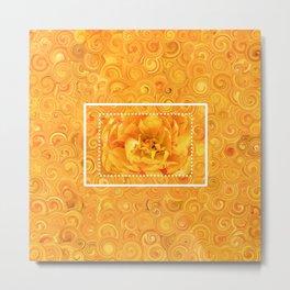 Orange-yellow flower Metal Print