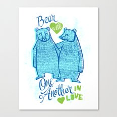 BEAR IN LOVE Canvas Print