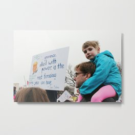 Girl at Women's March Metal Print