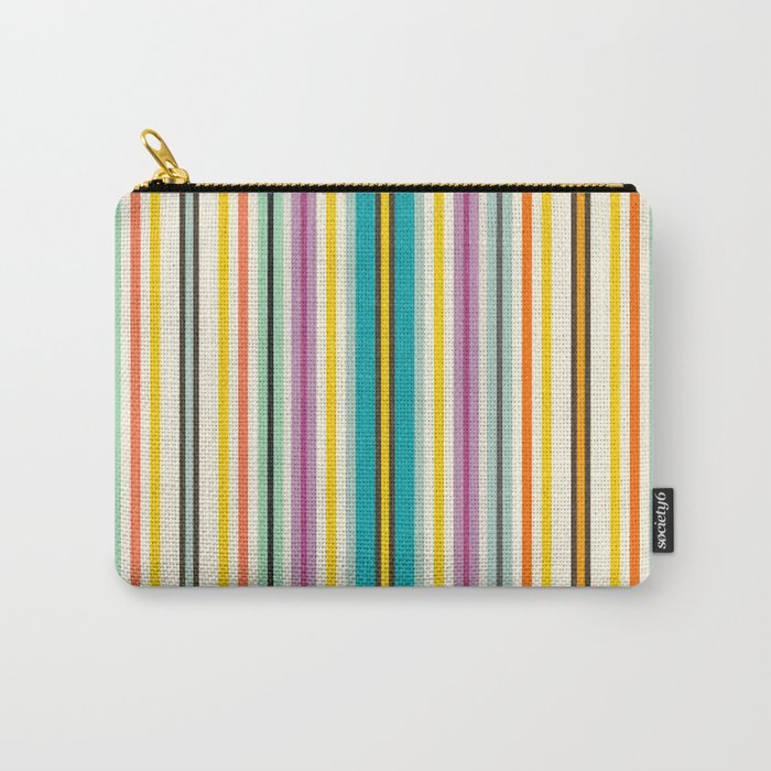 retro stripe Carry-All Pouch