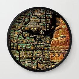 Paris old map year 1550 Wall Clock