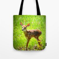 fawn Tote Bags featuring FAWN by 2sweet4words Designs