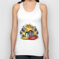 cars Tank Tops featuring Cars by ismailburc