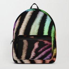 Black & White and Rainbow Zebra Print Backpack