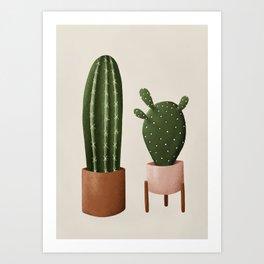 Pair of Cactus Art Print