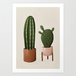 Pair of Cactus Art Print