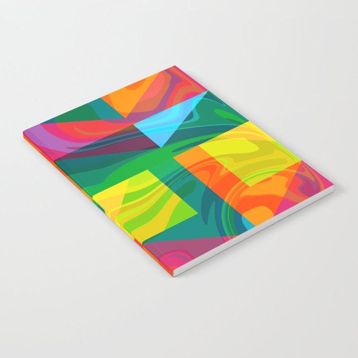 Funky geometric pattern Notebook