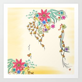 Vibrant Floral to Floral Art Print