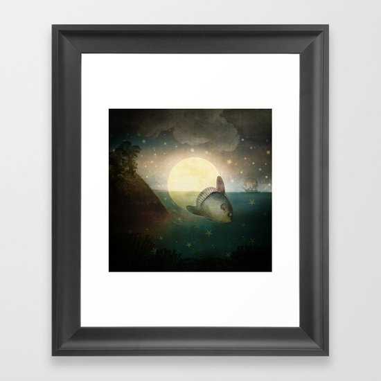 The Fish That Stole The Moon Framed Art Print