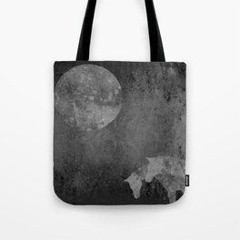 Moon with Horses in Grays Tote Bag