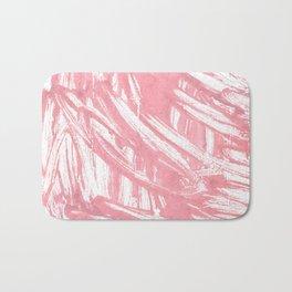 Mauvelous abstract watercolor Bath Mat