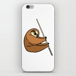 Billiard Cue Game Sport Funny Humor Gift iPhone Skin