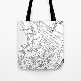 cycle motor, drawing Tote Bag