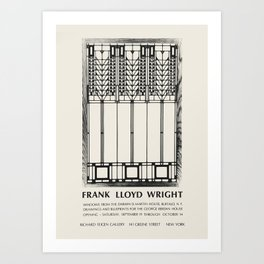 Frank Lloyd Wright - Exhibition poster for Richard Feigen Gallery, New York, 1970 Art Print