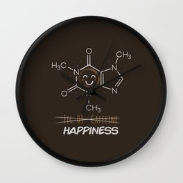 Caffeine Happiness Wall Clock