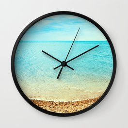 Summer Pebble Beach Wall Clock