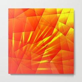 Bright sunshine on orange and yellow triangles of irregular shape. Metal Print