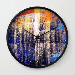 Golden Dawn, Abstract Landscape Art Wall Clock