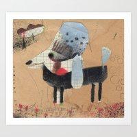 poodle Art Prints featuring Poodle by Natalie Pudalov
