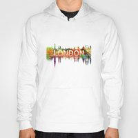 london Hoodies featuring London  by mark ashkenazi