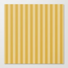 Large Two Tone Spicy Mustard Yellow Cabana Tent Stripe Canvas Print