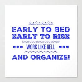 Work & Organize Canvas Print
