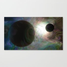 Colorful Dancers in Space Canvas Print
