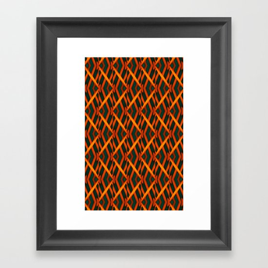 GEOMETRIC MARANTA Framed Art Print
