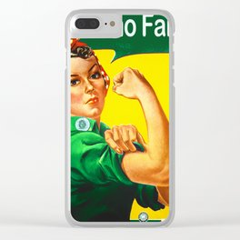 Italian Rosie The Riveter Woman Women Empowerment Women's Rights Italian American Clear iPhone Case