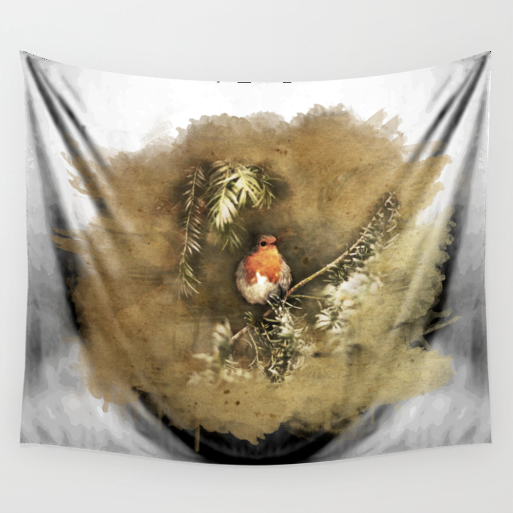 Robin The Redbreast Wall Tapestry by Weltenraser (TPS8489565) photo