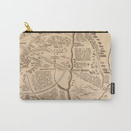 Vintage Map of The Battle of Bull Run (1861) Carry-All Pouch