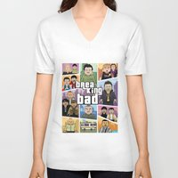 gta V-neck T-shirts featuring Lego Gta Mashup Breaking Bad by Akyanyme