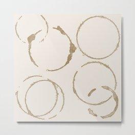 Coffee Stains Metal Print