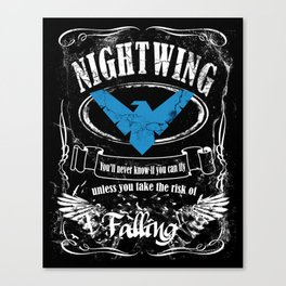 NIGTWING label whiskey style Canvas Print