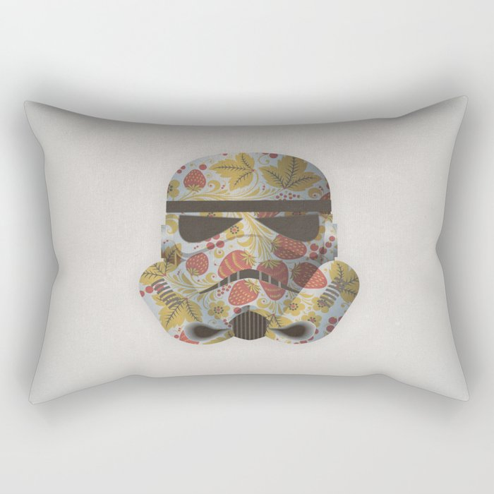 STRAWBEЯRY TROOPER Rectangular Pillow