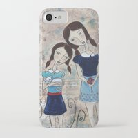 sisters iPhone & iPod Cases featuring Sisters by Allison Weeks Thomas