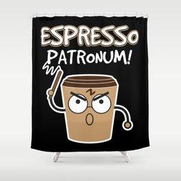 Espresso Patronum   Coffee Caffeine Shower Curtain