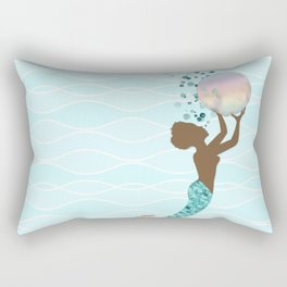 Beautiful Black Mermaid Rectangular Pillow