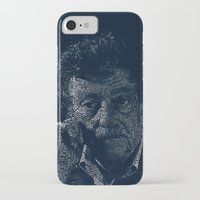 vonnegut iPhone & iPod Cases featuring Kurt Vonnegut Typographic Print by Bookish Prints