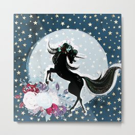 Night Unicorn Metal Print